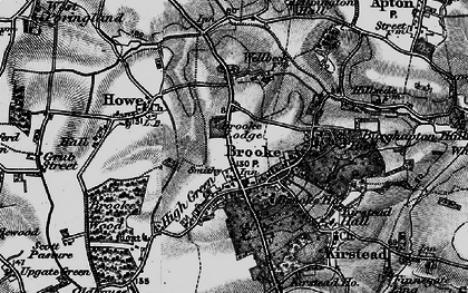 Old map of Brooke in 1898