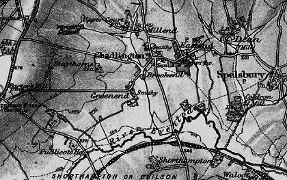 Old map of Brookend in 1896