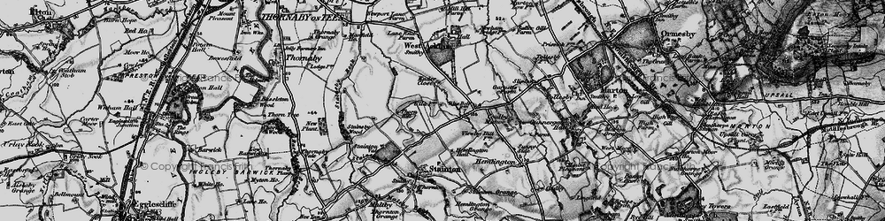 Old map of Brookfield in 1898