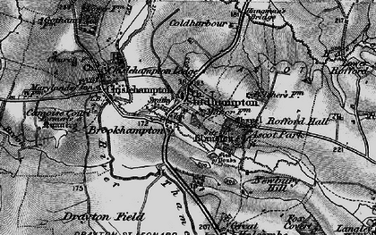 Old map of Brookhampton in 1895