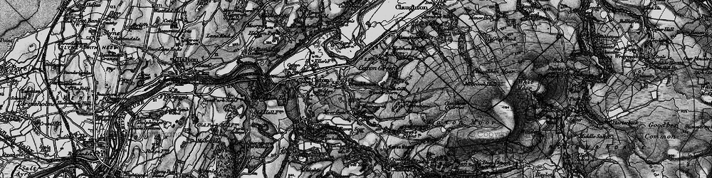 Old map of Annas Ghyll in 1898