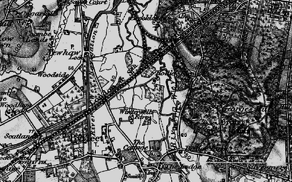 Old map of Brooklands in 1896