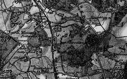 Old map of Brookmans Park in 1896
