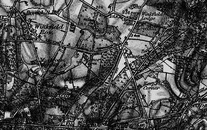 Old map of Brookside in 1896