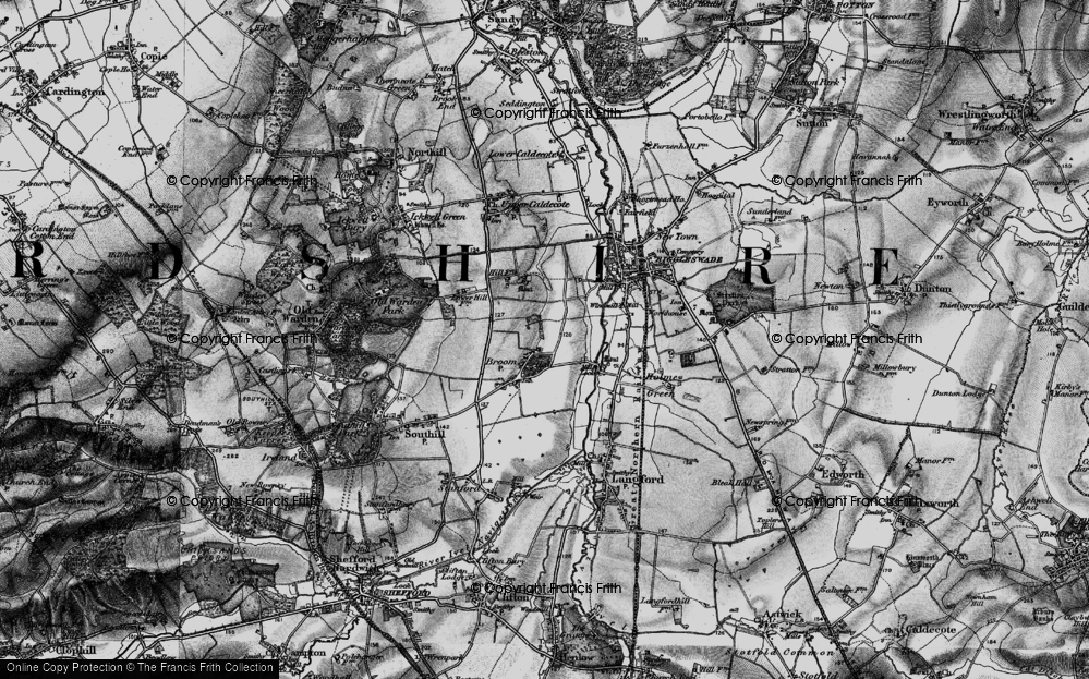 Old Map of Broom, 1896 in 1896
