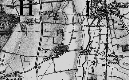 Old map of Broom in 1896