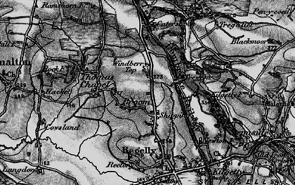 Old map of Windberry Top in 1898