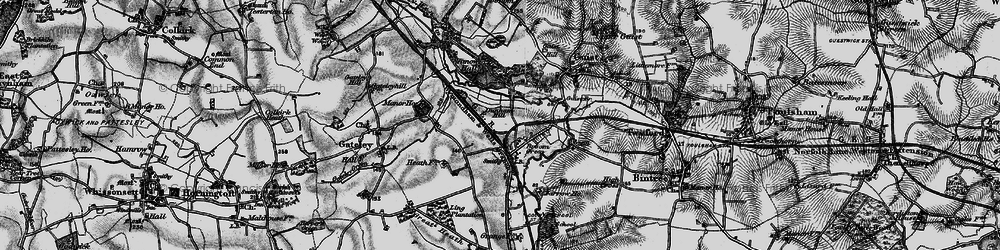Old map of Yarrow Ho in 1898