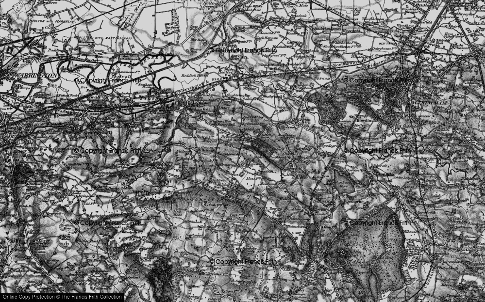Old Map of Historic Map covering Agden Brow in 1896