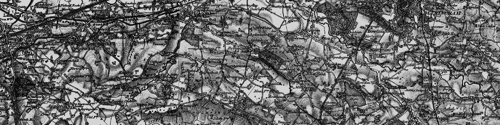 Old map of Broomedge in 1896