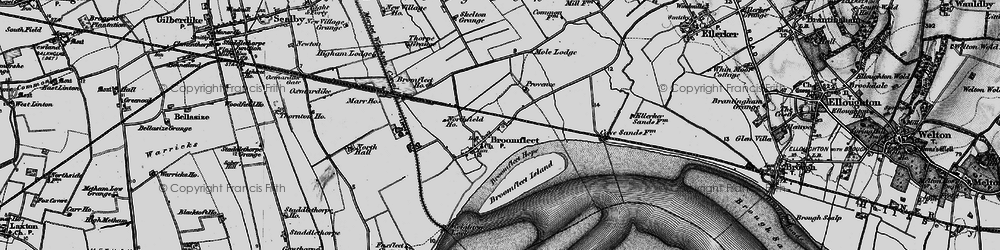 Old map of Whitton Island in 1895