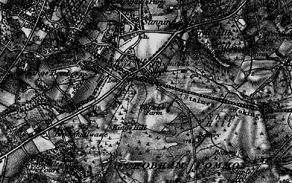 Old map of Broomhall in 1896