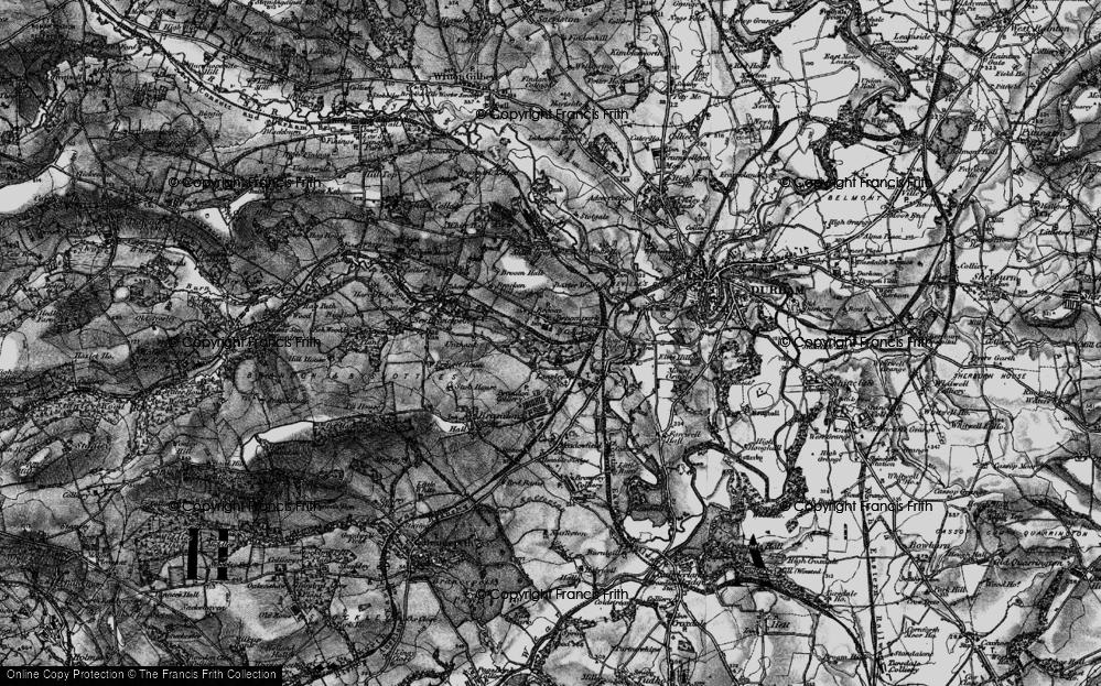 Old Map of Historic Map covering Aldin Grange in 1898