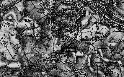Old map of Broseley in 1899