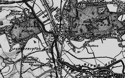 Old map of Brotherton in 1896