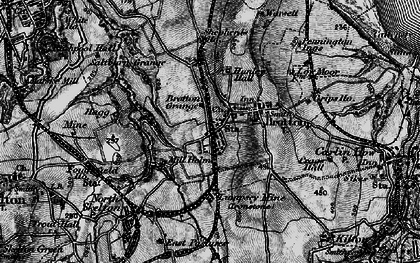 Old map of Brotton in 1898