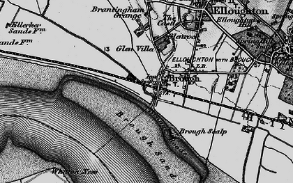 Old map of Brough in 1895