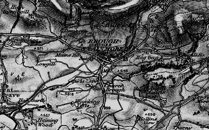 Old map of Augill Ho in 1897