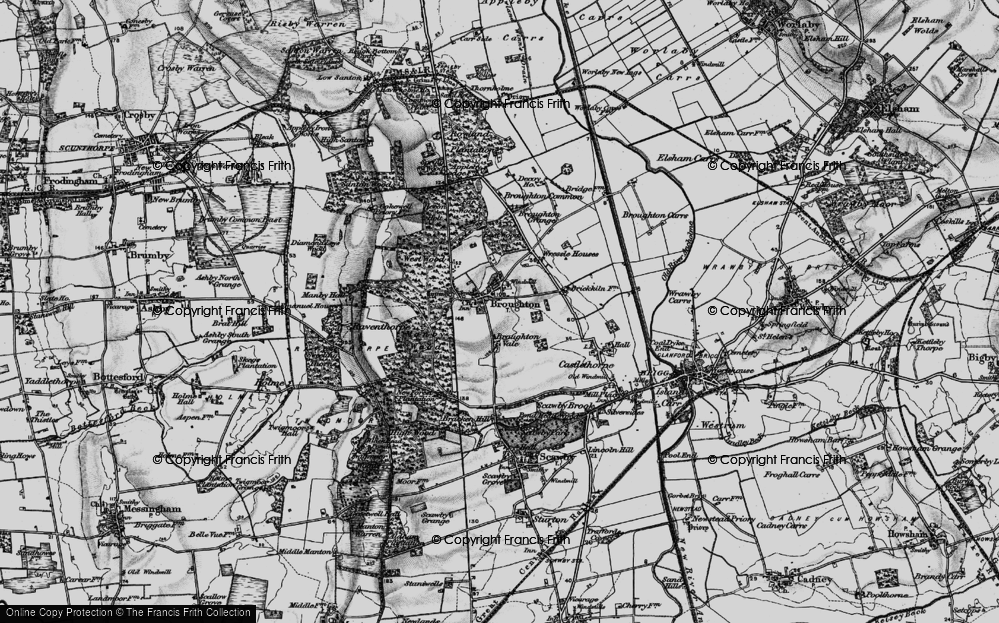 Old Map of Broughton, 1895 in 1895