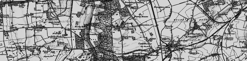 Old map of Broughton in 1895