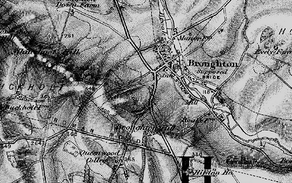 Old map of Whiteshoot Hill in 1895