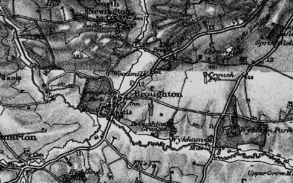 Old map of Broughton in 1896