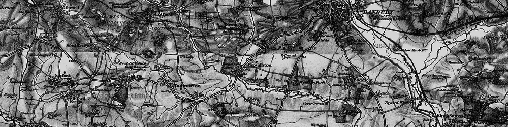 Old map of Wykham Mill in 1896