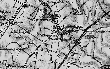 Old map of Broughton Astley in 1898