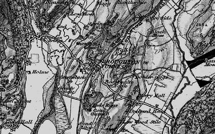 Old map of Broughton in Furness in 1897