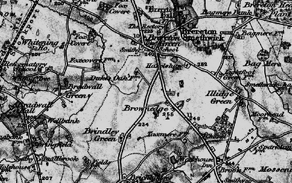 Old map of Brownedge in 1897
