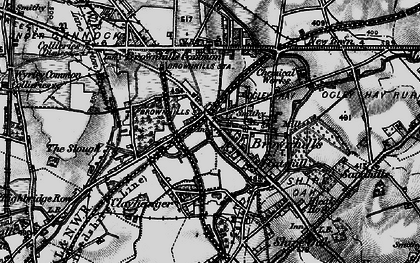 Old map of Brownhills in 1899
