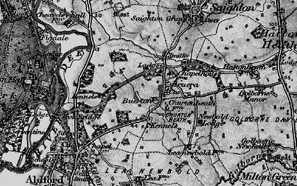 Old map of Crook of Dee in 1897