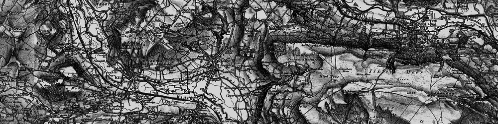 Old map of White Crag Plantn in 1898