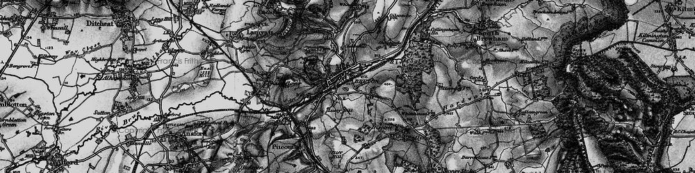 Old map of Whaddon Ho in 1898