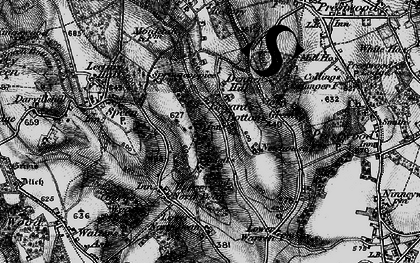 Old map of Bryant's Bottom in 1895