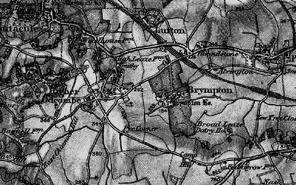 Old map of Brympton D'Evercy in 1898