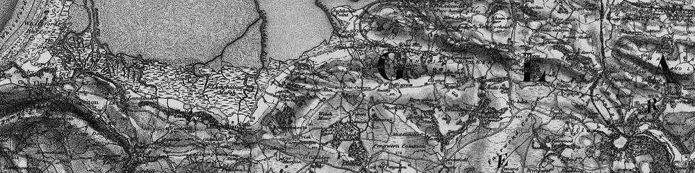 Old map of Tircoch in 1897