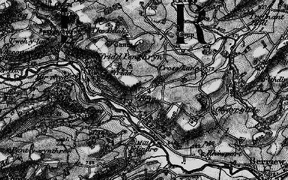 Old map of Bryn in 1899