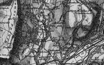Old map of Bryncoch in 1898