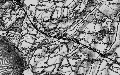 Old map of Barclodiad y Gawres in 1899