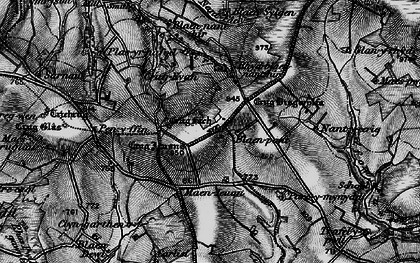 Old map of Afon Fawr in 1898