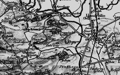 Old map of Bryn Mawr in 1897