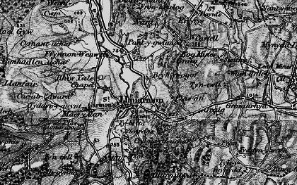 Old map of Tomen y Faerdre in 1897
