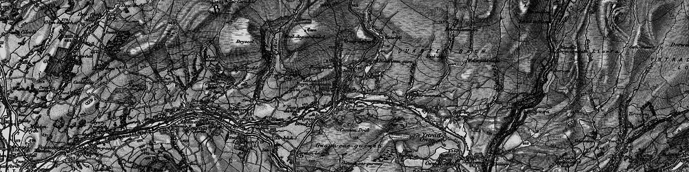 Old map of Brynamman in 1898