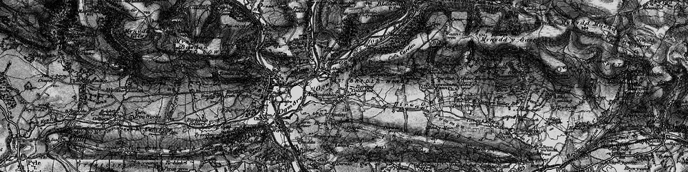 Old map of Bryncethin in 1897