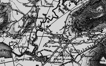 Old map of Afon Dysynni in 1899
