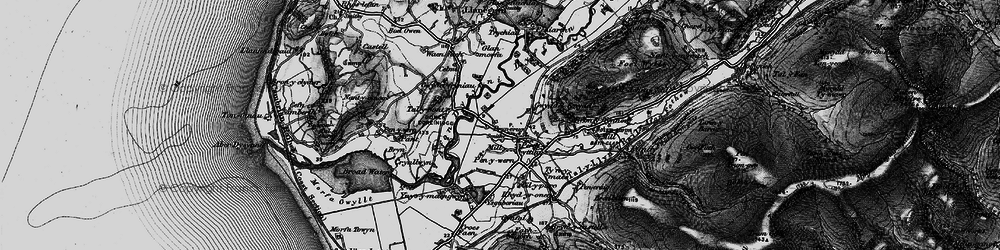 Old map of Bryncrug in 1899