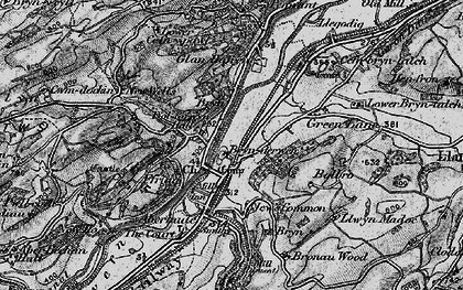Old map of Brynderwen in 1899