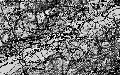 Old map of Bryneglwys in 1897