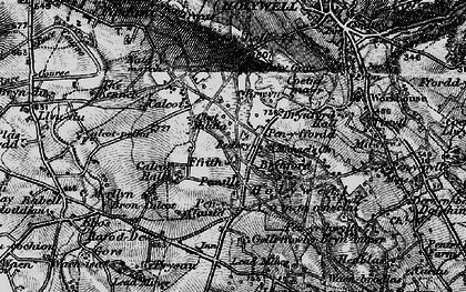 Old map of Brynford in 1896